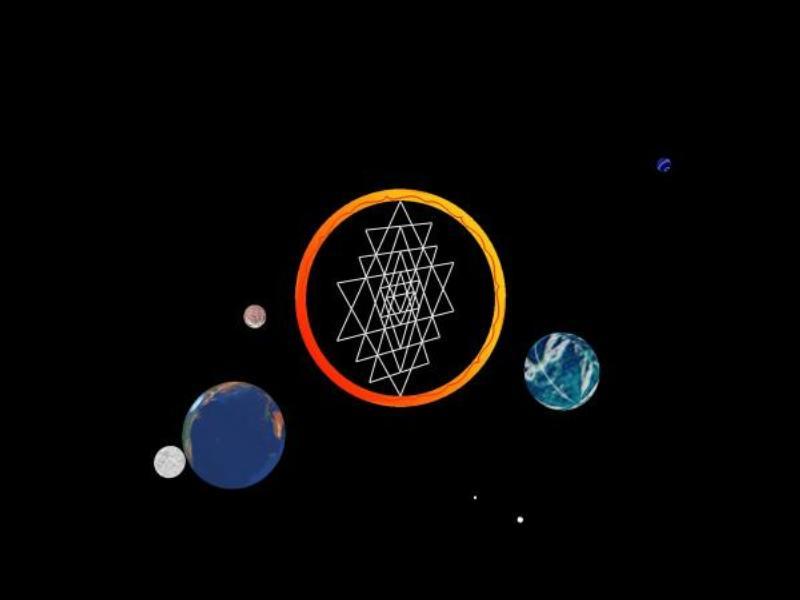 Screenshot vom Programm: Shri Yantra Bildschirmschoner